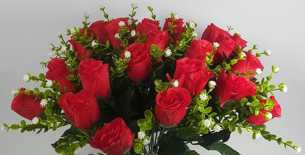 Τριαντάφυλλα μπουμπούκια κόκκινα - Μπουκέτο