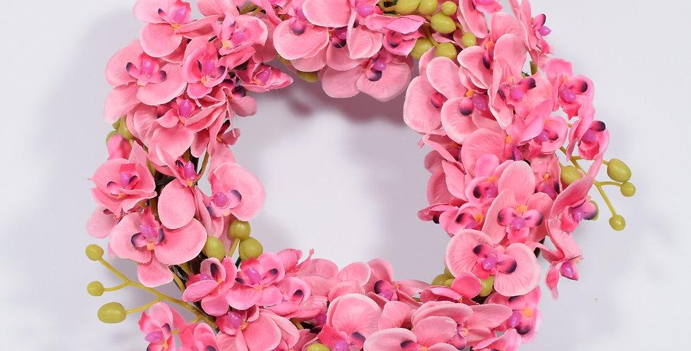 Ροζ ορχιδέες - Στεφάνι