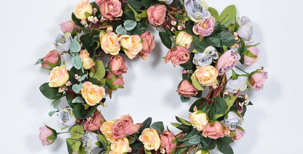 Τριαντάφυλλα παλ  -Στεφάνι