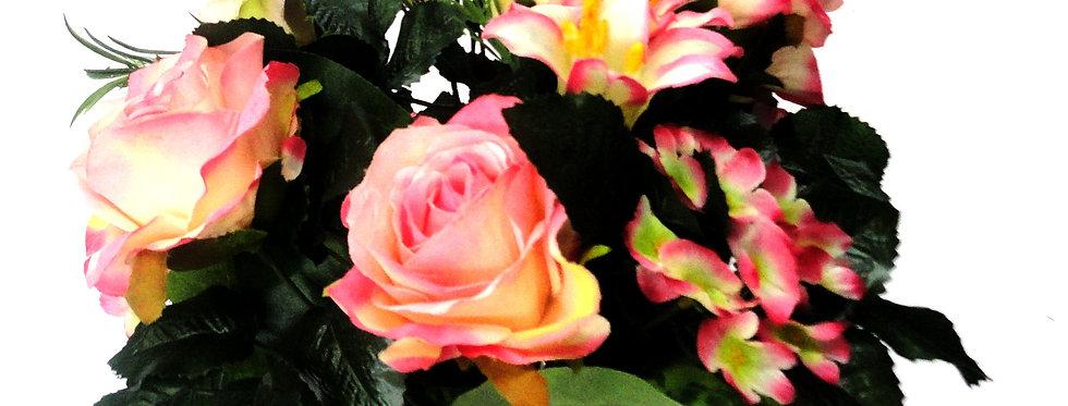 Τριαντάφυλλα - Κρίνοι - Ορτανσίες - Μπουκέτο