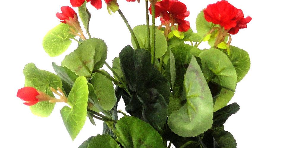 Μικρό μπουκέτο με τεχνητά άνθή, γεράνια , σε 3χρωματικούς συνδυασμούς.