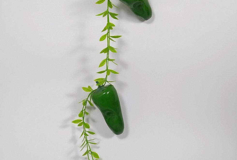 Τεχνητές πράσινες πιπεριές κρεμαστές