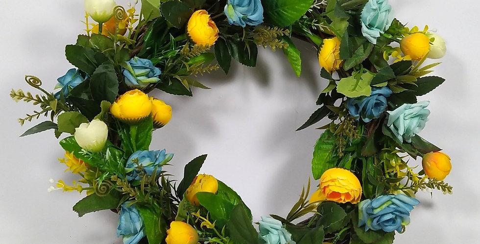 Νεραγκούλες με τριαντάφυλλα - Στεφάνι