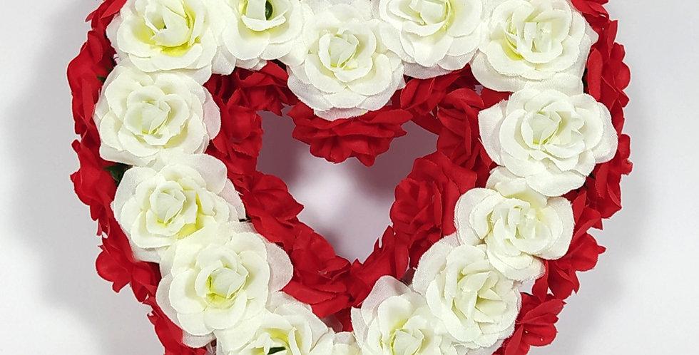 Καρδιά μικρή τριαντάφυλλα - Στεφάνι