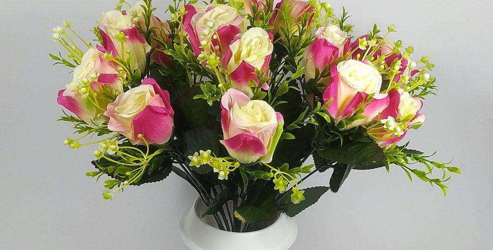 Τριαντάφυλλα μπακαρας φούξιαν - Μπουκέτο σε βάζο