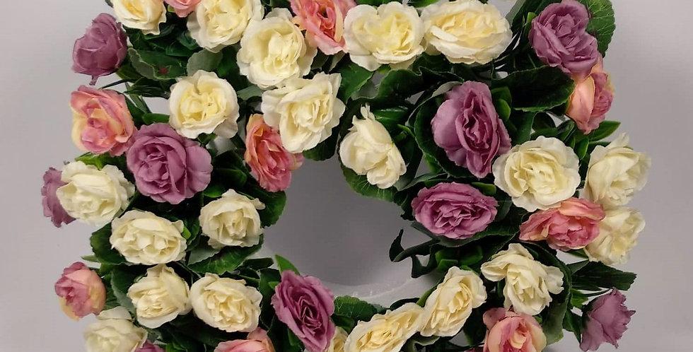 Τριαντάφυλλα παστέλ - Στεφάνι