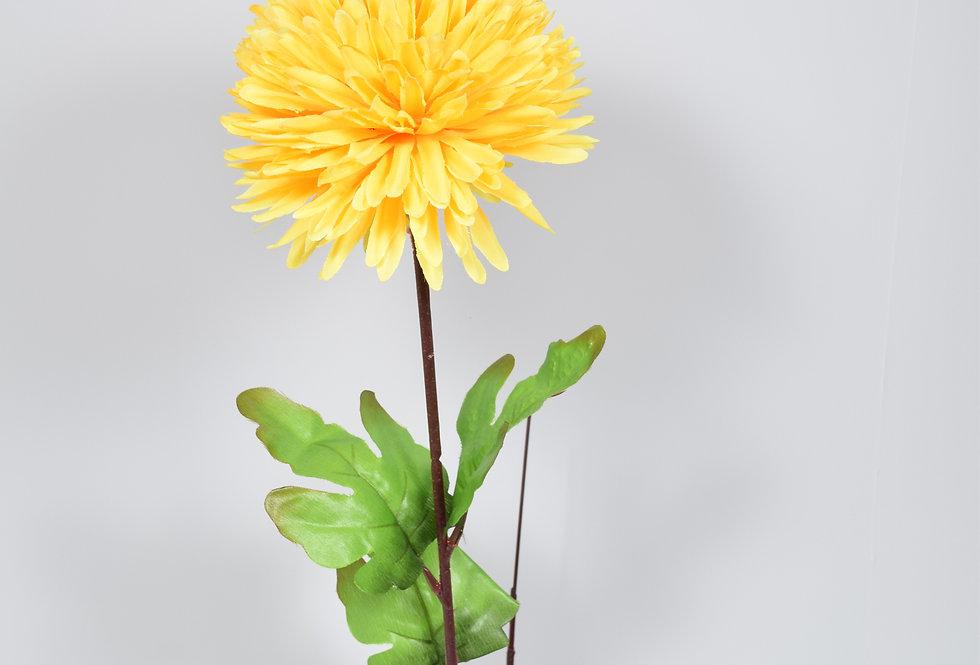 Κλωνάρι με τεχνητά άνθη, χρυσάνθεμα, σε 6χρωματικούς συνδυασμούς.