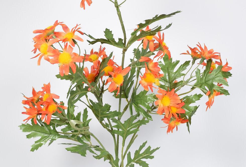 Κλωνάρι με τεχνητά λουλούδια μαργαρίτες , σε 4χρωματικούς συνδυασμούς.