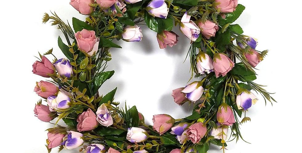 Τριαντάφυλλα παλ- Στεφάνι