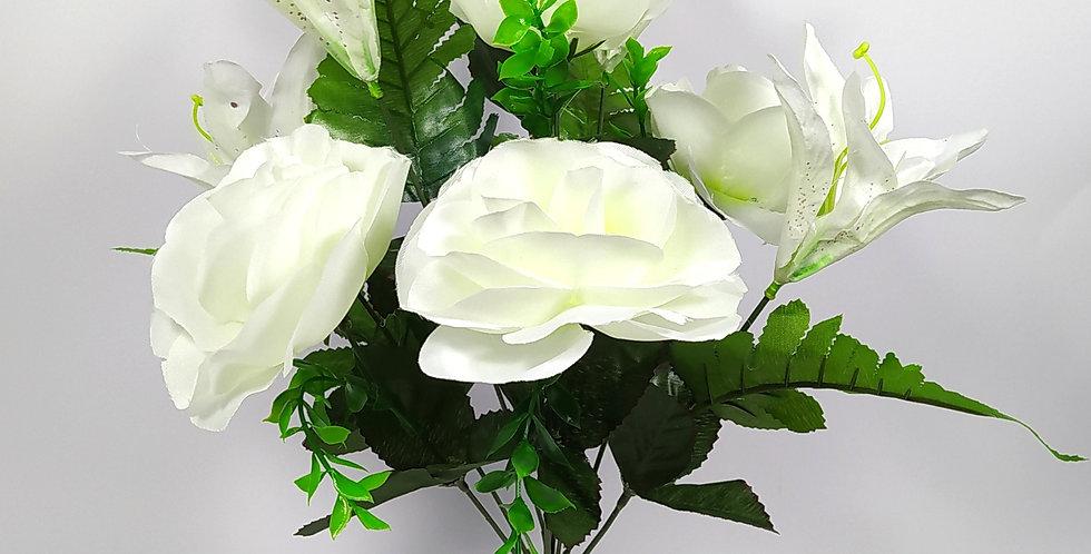 Κρινάκια και τριαντάφυλλα - Μπουκέτο