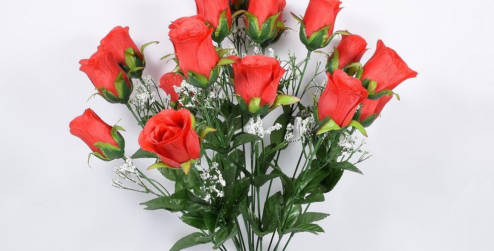 Μπουκέτο με τεχνητά άνθή, τριαντάφυλλα , σε 3χρωματικούς συνδυασμούς. Ψεύτικα λουλούδια.