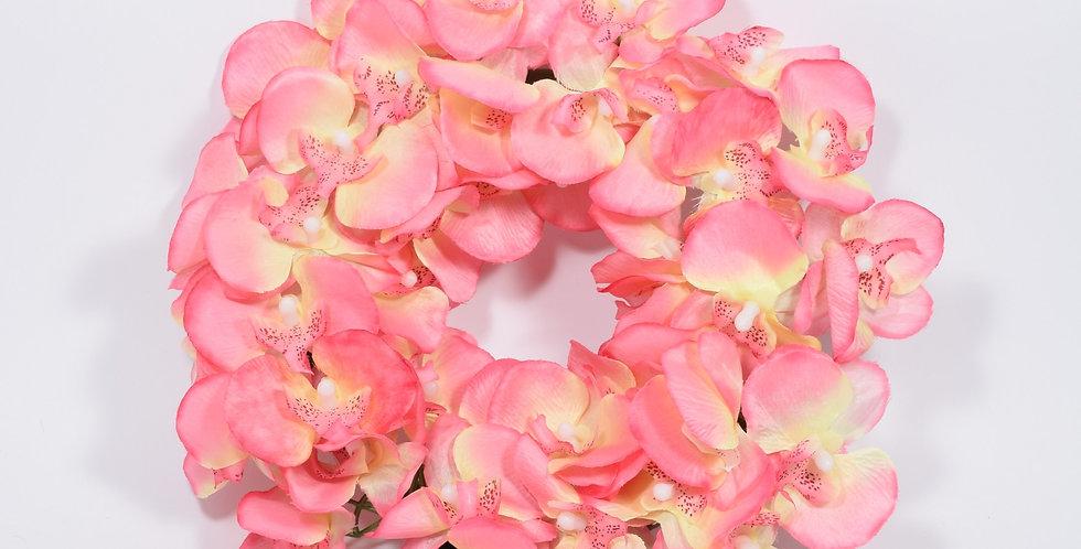 Ροζ ορχιδέες πλατιές - Στεφάνι
