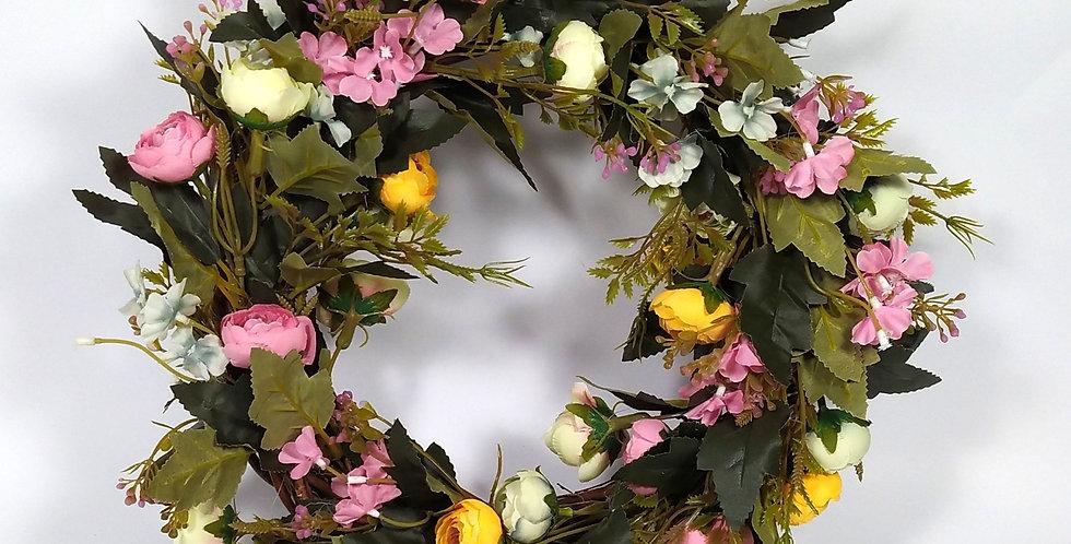 Λουλουδάκια του αγρού και Νεραγκούλες παλ - Στεφάνι