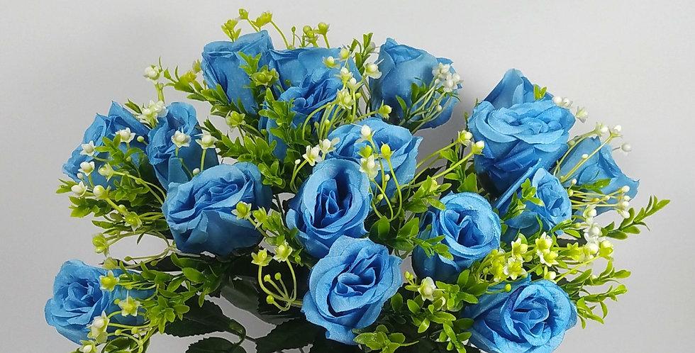 Τριαντάφυλλα μπουμπούκια  μπλε - Μπουκέτο