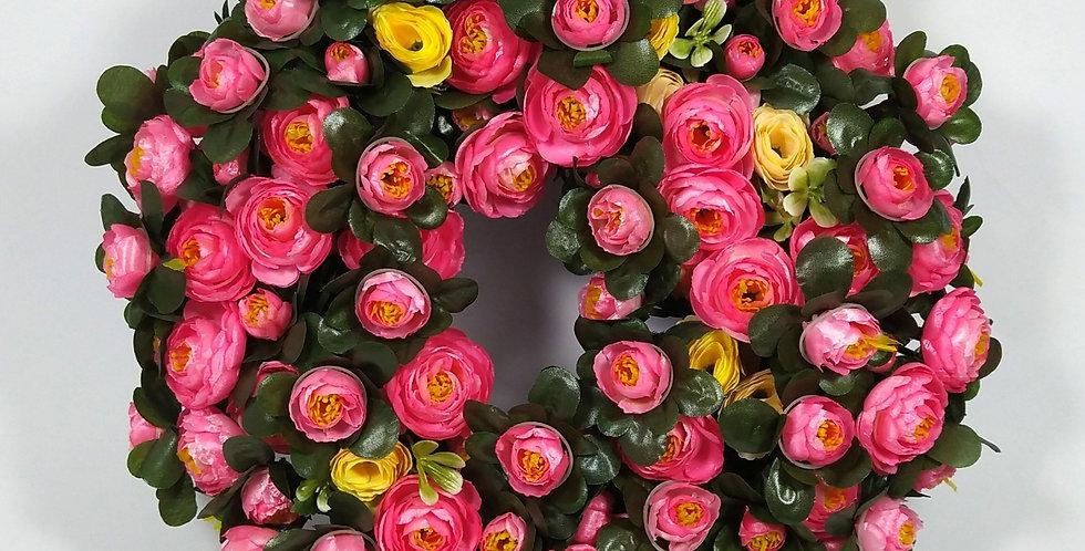 Νεραγκούλες ροζ και κίτρινες - Στεφάνι