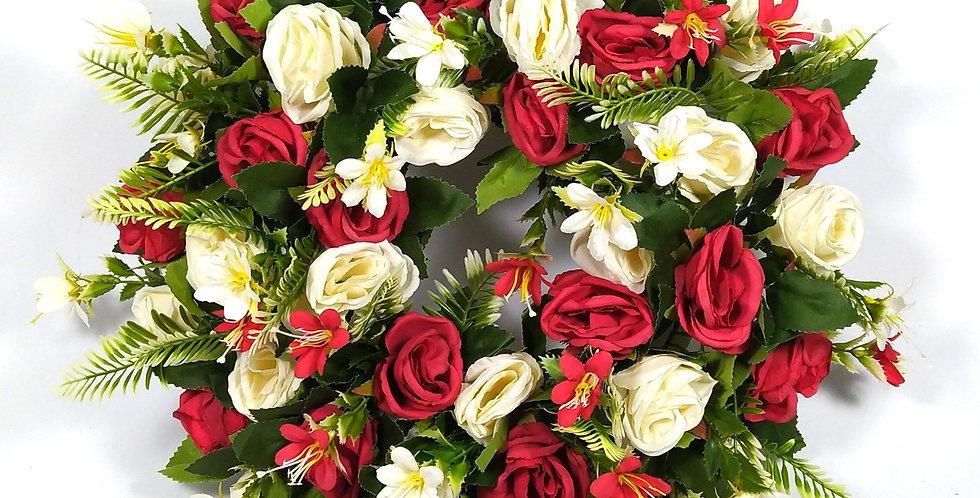 Τριαντάφυλλα και αγριολουλουδα - Στεφάνι