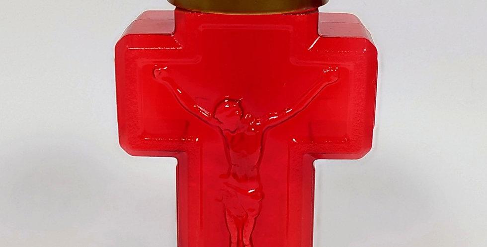Σταυρός ηλεκτρικό κερί 150 ημερών - Μεγάλος κόκκινος