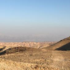 View towards the Dead Sea and Jordan