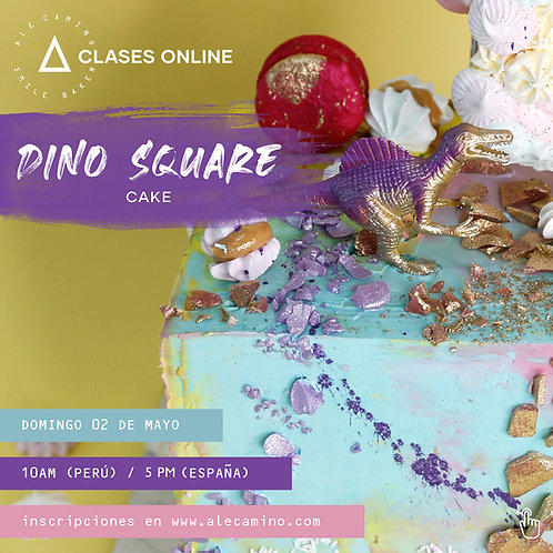 Grabación WORKSHOP Dino Square Cake