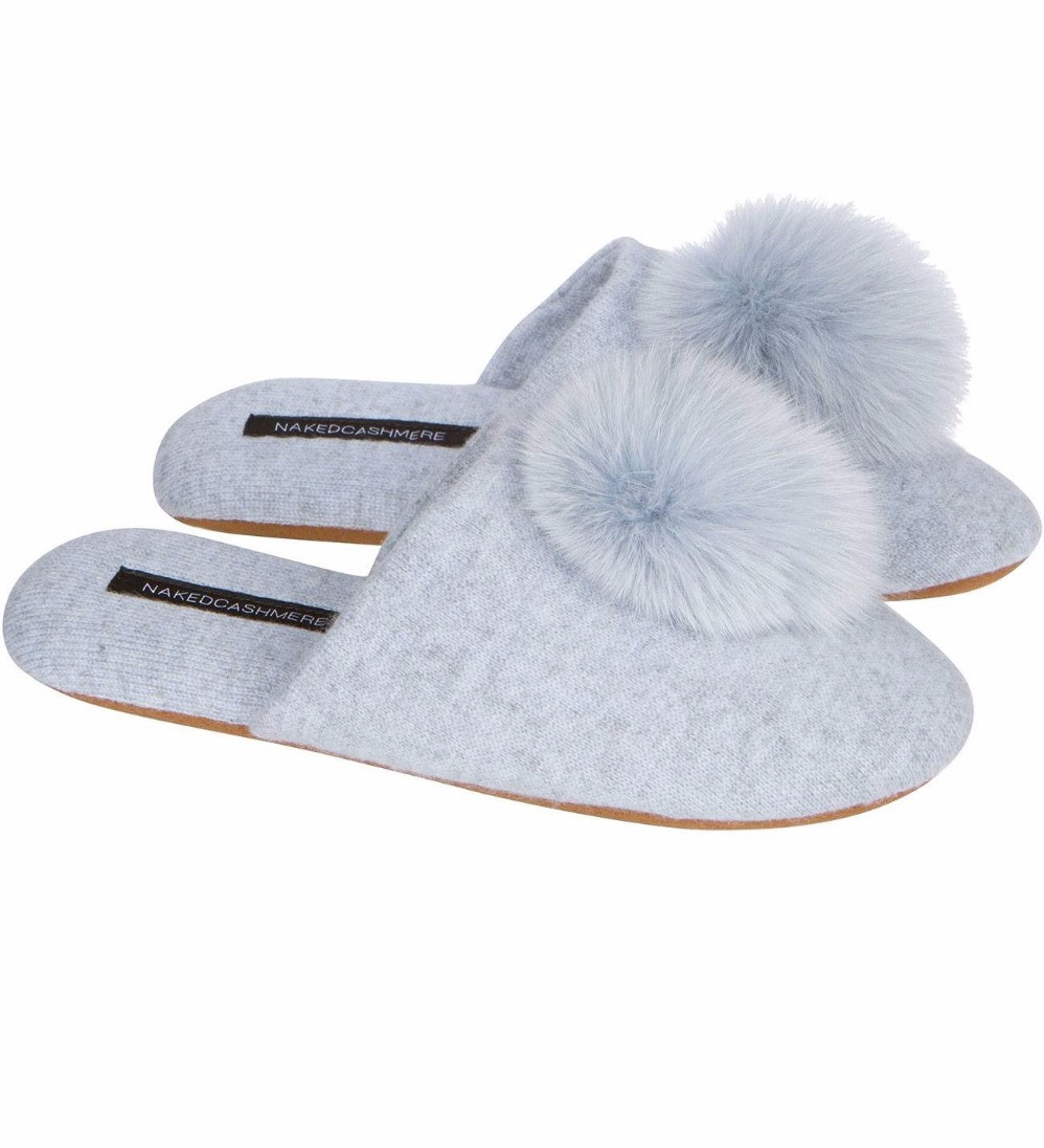 Naked Cashmere Puff Slippers...