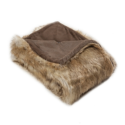 Wild Mannered Faux Fur Throw