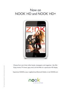 Nook Ad - Z!NK Magazine