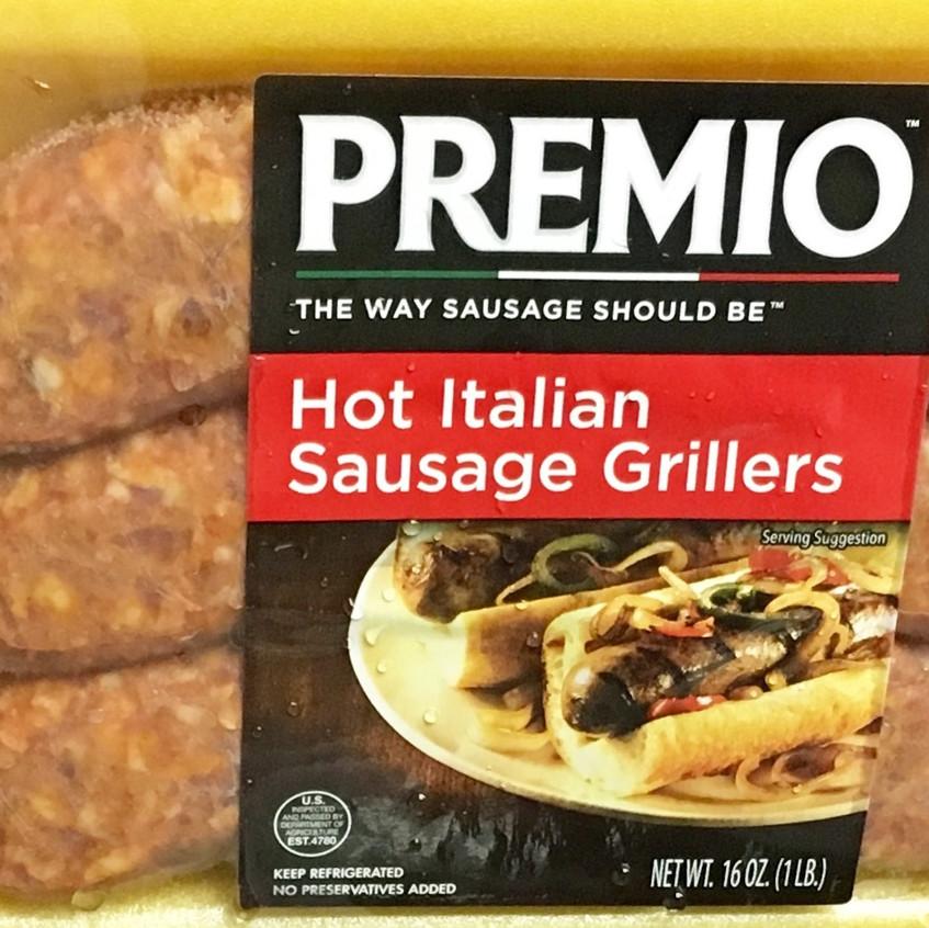 Premio Hot Italian Sausage Grillers