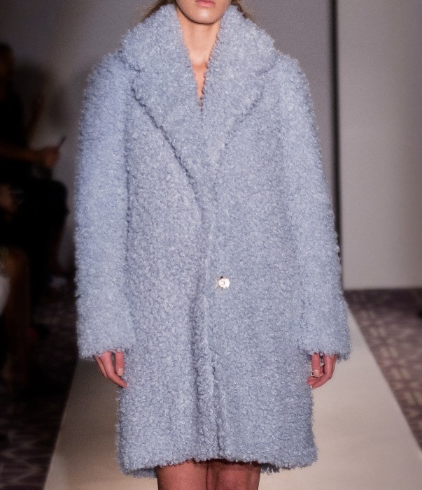 Pelush Anna Coat in Baby Blue Poodle