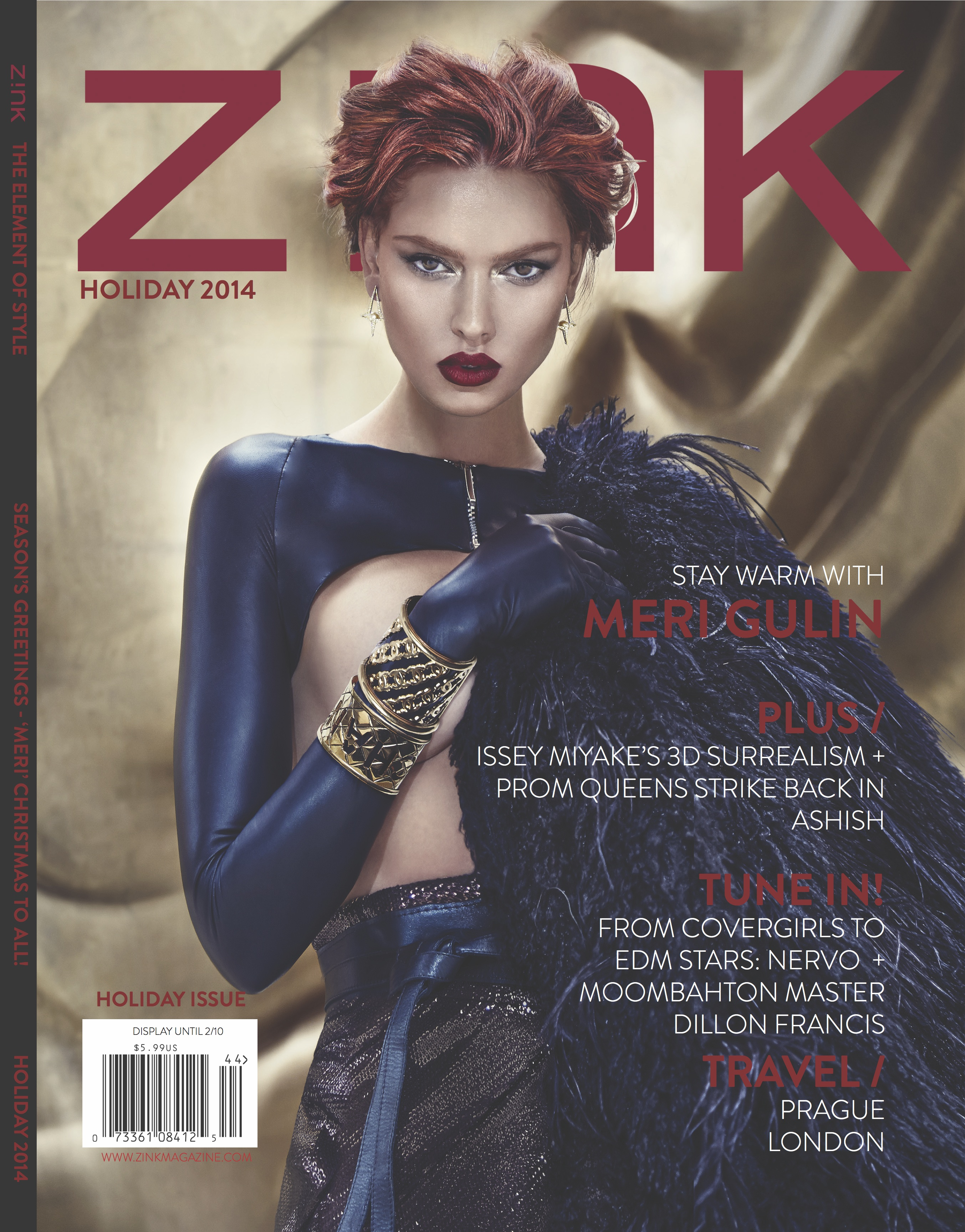 Holiday 2014 Cover - Z!NK Magazine