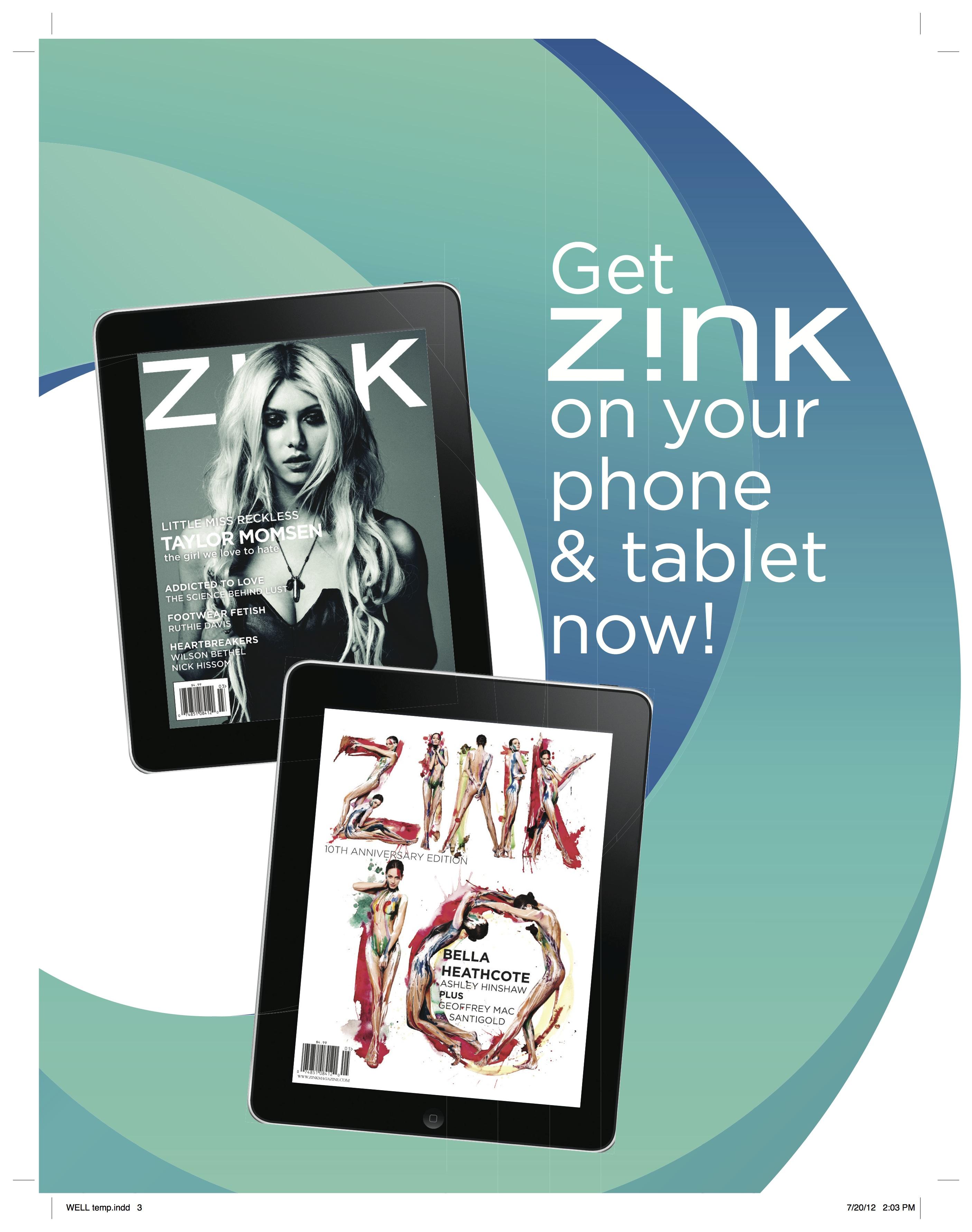 Google Currents Ad - Z!NK Magazine