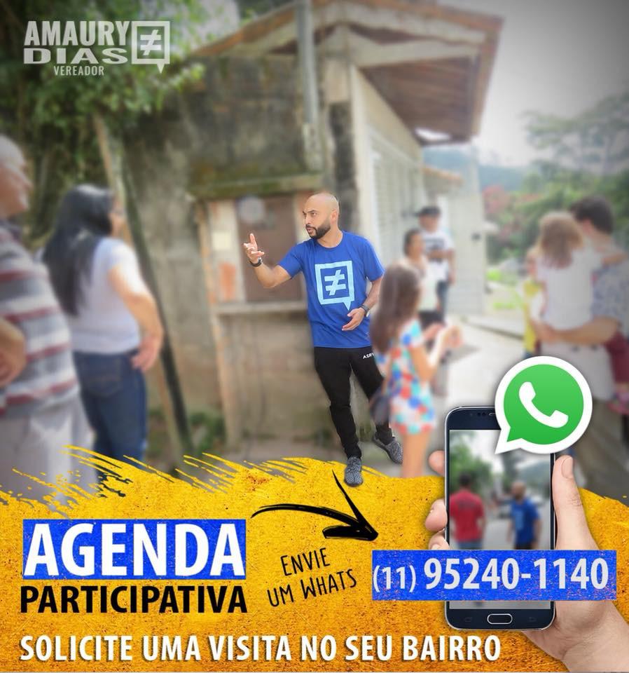 Gabinete Online, Vereador Amaury Dias, RIbeirão Pires
