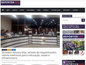 Deu na mídia - Amaury Dias #AmauryDias #Diferente #VamosPraCima #NovaPolitica #MandatoColaborativo #Transparência #Atitude