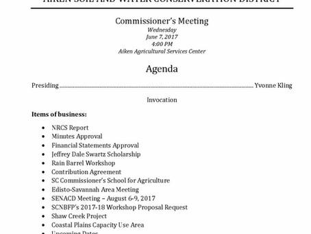 June Board Meeting