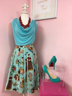 blue dress dim