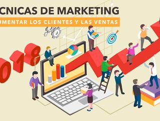 15 técnicas de Marketing para aumentar los clientes y las ventas en 2018