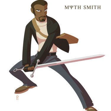 "Myth Smith-Nearly immortal and tasked with maintaining the balance between magic and ""reality"", Myth is the world's greatest supernatural adventurer!"