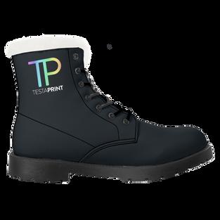 Faux Fur Leather Boots