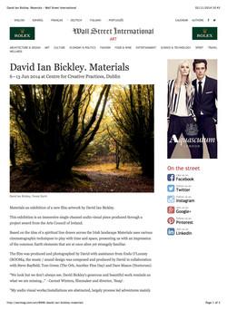David Ian Bickley. Materials - Wall Street International
