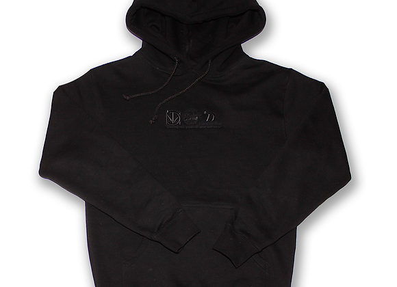Embroidered Heritage Black Hoodie
