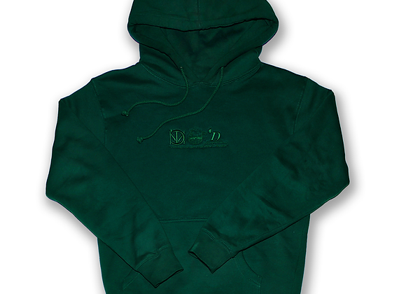 Embroidered Emerald Green Hoodie
