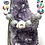 Thumbnail: Fun floral beads with 2  skulls with rhinestone connector