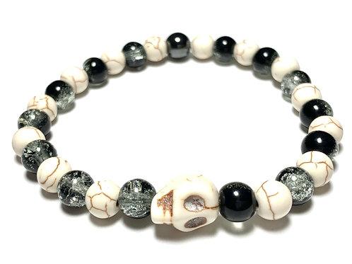 Natural skull and mixed beads