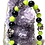 Thumbnail: Green and Black beads with metal skulls