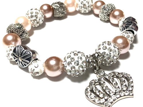 Pretty vintage pearls with Rhinestone Crown