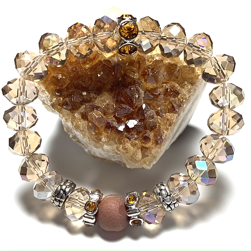 Stunning Druzy quartz stone with mixed precious stones