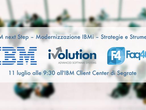 iVolution all'IBMi Next Step dell'11 luglio