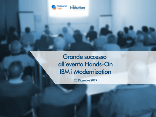 Grande successo all'evento Hands-on IBM i Modernization
