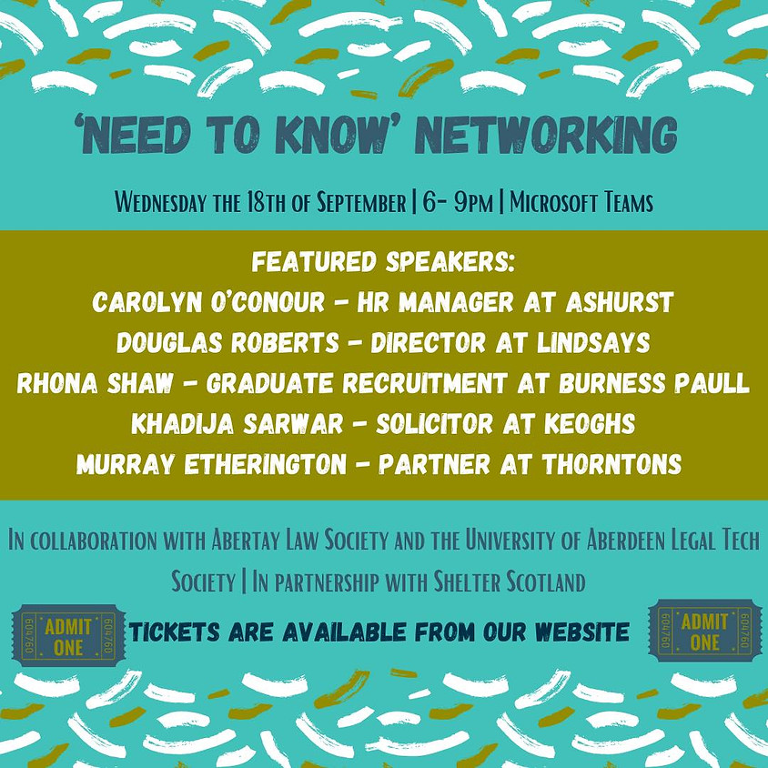 'Need To Know' Networking