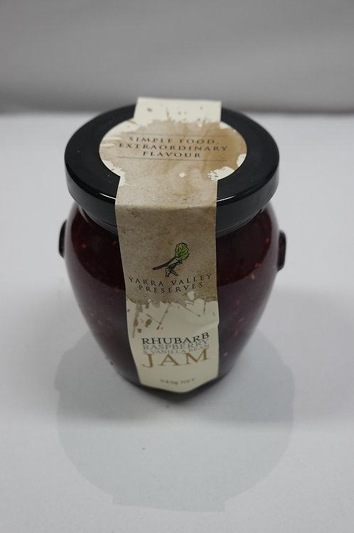 Yarra Valley Preserve Rhubarb, Raspberry & Vanilla Bean Jam - 245g
