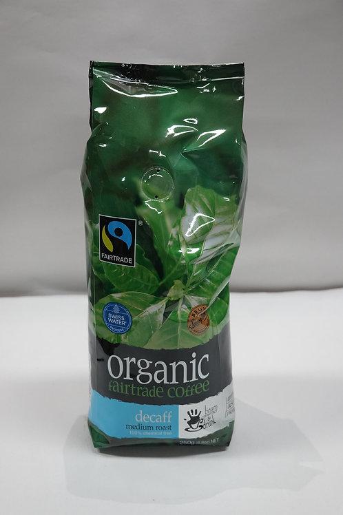 Organic Fairtrade Coffee Decaff Medium Roast - 250g